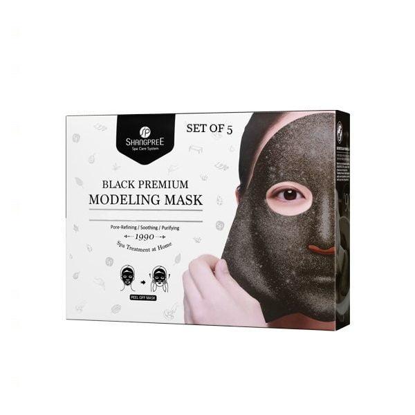 tepama veido kaukė SHANGPREE Black Pemium Modeling Mask 5 vnt