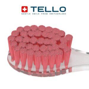 Minkšto dantų šepetėlio Tello 4920 Soft šereliai