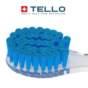 vidutinio kietumo dantų šepetelio Tello 3940 Medium šereliai