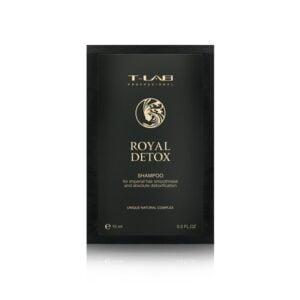 Detoksikuojantis plaukų šampūnas T-Lab Royal Detox 15ml(kelionėms)