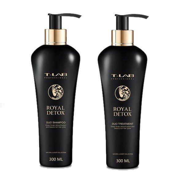 Rinkinys plaukų detoksikacijai T-LAB Royal Detox Duo