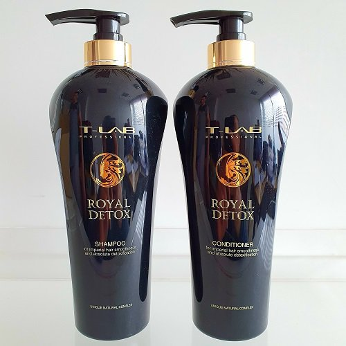 Rinkinys plaukų detoksikacijai T-LAB Royal Detox Duo XL