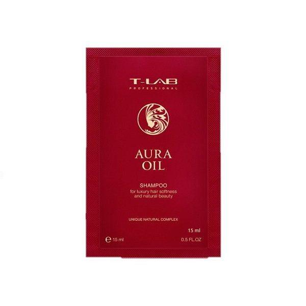 Šampūnas plaukų glotnumui T-Lab Aura Oil 15ml (kelionėms)