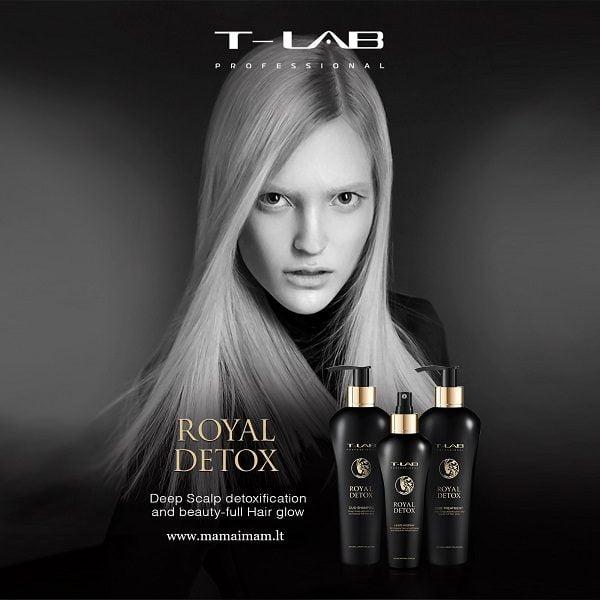 Detoksikuojantis plaukų šampūnas T-Lab Royal Detox