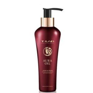 Nenuplaunamas kremas plaukų glotnumui T-Lab Aura Oil 130ml