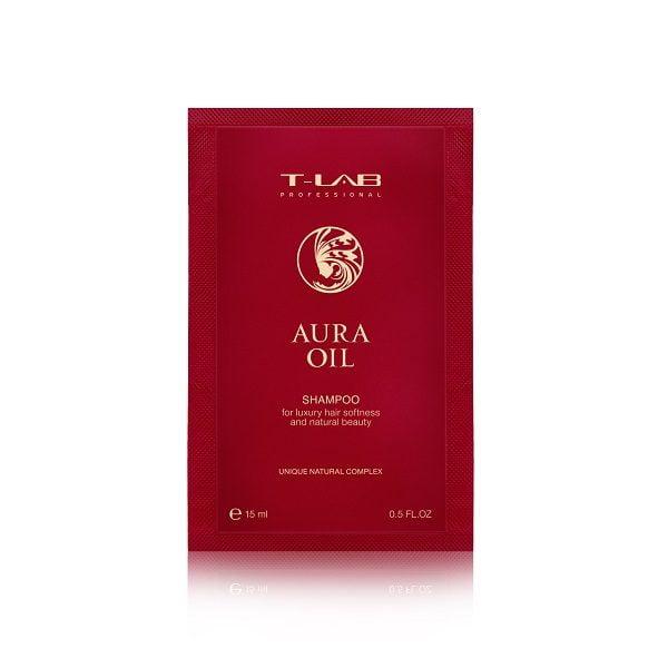 Šampūnas plaukų glotnumui T-Lab Aura Oil 15ml