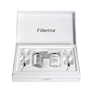 Dermo-kosmetinio užpildo rinkinys 3 lygio raukšlėms Fillerina (su 6 hialurono rūgštimis ir peptidais)
