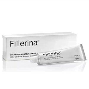 Paakių ir lūpų kremas 3 lygio raukšlėms Fillerina (su 6 hialurono rūgštimis ir peptidais)