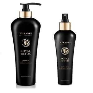 Rinkinys plaukų detoksikacijai T-LAB Royal Detox Duo spray