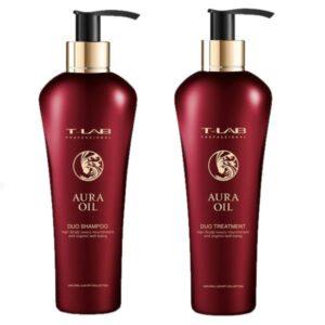 Rinkinys plaukų glotnumui T-Lab Aura Oil Duo