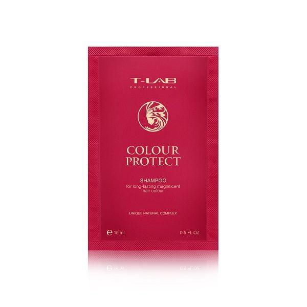 Šampūnas T-LAB Colour Protect 15ml (Kelionėms)