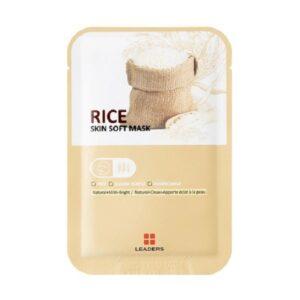 Skaistinanti lakštinė veido kaukė Leaders Skin Soft Rice 1vnt.