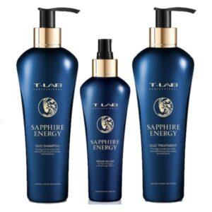 Rinkinys plaukų stiprinimui T-Lab Sapphire Energy Trio