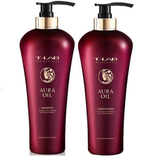 Rinkinys plaukų glotnumui T-Lab Aura Oil Duo XL