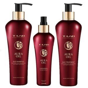 Rinkinys-plauku-glotnumui-T-Lab-Aura-Oil-Trio-elixir