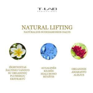 T-LAB Natural Lifting natūralios sudedamosios dalys