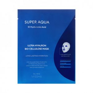 Drėkinanti veido kaukė Missha Super Aqua Ultra Hyalron Bio Cellulose Mask 25g