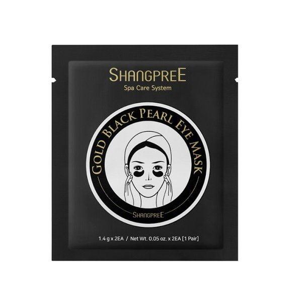 Juodųjų perlų paakių kaukė Shangpree Gold Black Pearl Eye Mask 1 pora