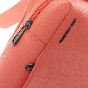 Koralinė odinė kuprinė Mandarina Duck Mellow Leather 3