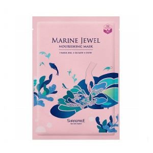 Maitinanti lakštinė veido kaukė Shangpree Marine Jewel Nourishing Mask 30ml