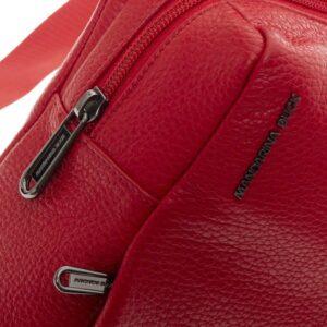 Raudona odinė kuprinė Mandarina Duck Mellow Leather 2