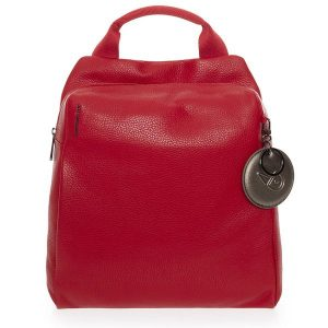 Raudona odinė kuprinė Mandarina Duck Mellow Leather