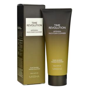Valomosios veido putos/kaukė Missha Time Revolution Artemisia Pack Foam Cleanser 150ml