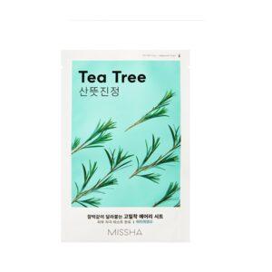 Veido kaukė su arbatmedžio ekstraktu Missha Airy Fit Sheet Mask 19 g