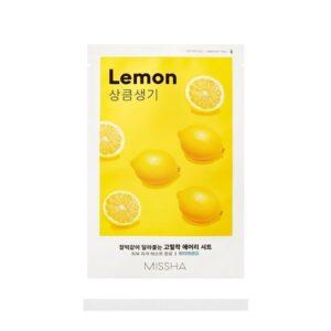 Veido kaukė su citrinų ekstraktu Missha Airy Fit Sheet Mask 19 g