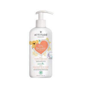 Šampūnas ir kūno prausiklis vaikams Attitude Baby Leaves 473ml