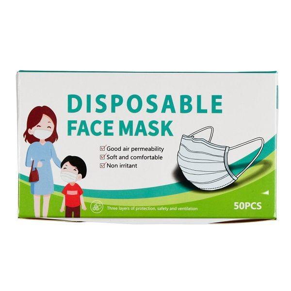 Apsauginės vienkartinės vaikiškos veido kaukės 50 vnt. (3 sluoksnių)