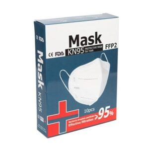 Apsauginės veido kaukės - respiratoriai FFP2 KN95 10 vnt.