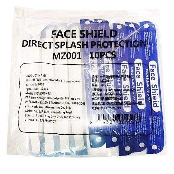 Apsauginis veido skydelis Face Shield direct splash protection MZ001 (2)