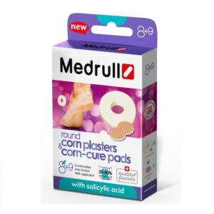 Lateksiniai nuospaudų pleistrai Medrull N9 + diskai nuospaudų šalinimui N8