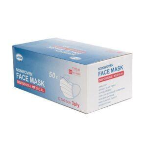 Medicininės apsauginės veido kaukės TYPE IIR 50vnt