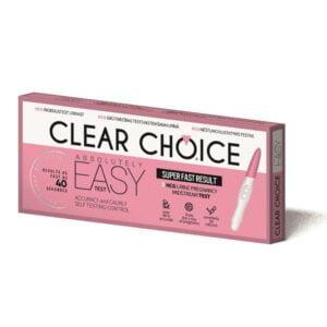 Nėštumo testas Clear Choice Easy test (ankstyvas nėštumo testas, jautrumas 10mIUml)