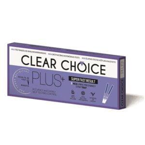 Nėštumo testas Clear Choice Plus 2 vnt.pak. juostelė