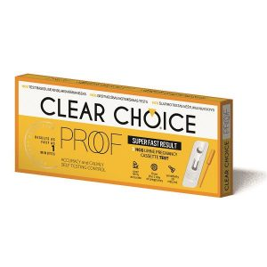 Nėštumo testas Clear Choice Proof kasetė