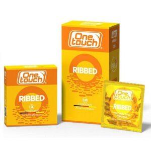 Prezervatyvai briaunuotu paviršiumi One Touch Ribbed