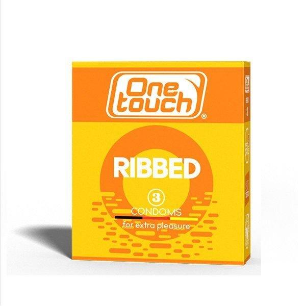 Prezervatyvai briaunuotu paviršiumi One Touch Ribbed 3vnt