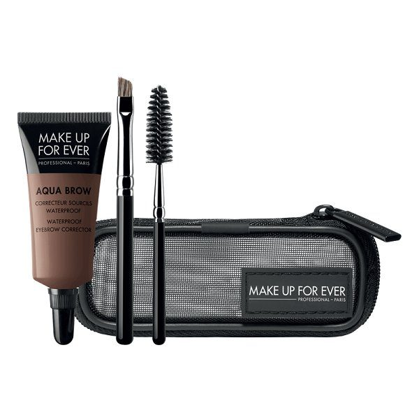 Rinkinys antakiams atsparus vandeniui (dažai+2 teptukai) Make up for ever AQUA BROW KIT Nr20 7ml