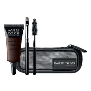 Rinkinys antakiams atsparus vandeniui (dažai+2 teptukai) Make up for ever AQUA BROW KIT Nr30 7ml