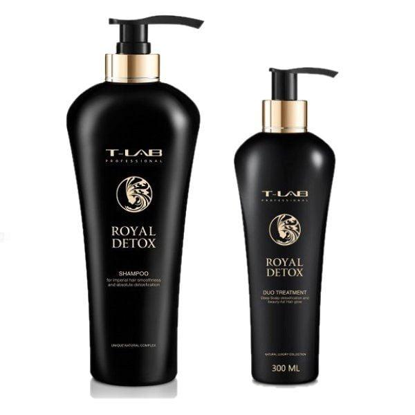Rinkinys plaukų detoksikacijai T-LAB Royal Detox Duo L