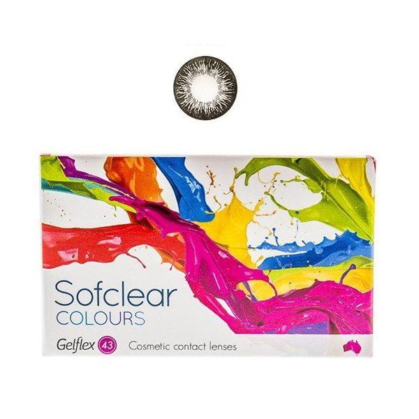 Spalvoti kontaktiniai lęšiai Sofclear Colours, juodi (2vnt) (2)