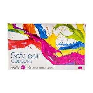 Spalvoti kontaktiniai lęšiai Sofclear Colours, visiškai juodi (2vnt)