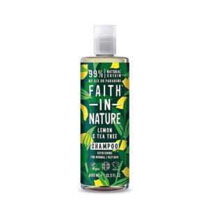 Šampūnas Faith in Nature 400ml (su citrinomis ir arbatmedžiu)