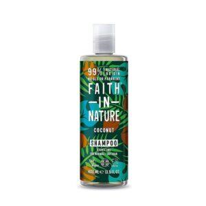 Šampūnas drėkinantis plaukus Faith in Nature 400ml (su kokosais)