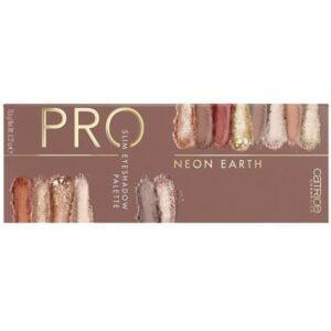 Akių šešėlių paletė CATRICE Pro Neon Earth Slim 14 spalvų 2