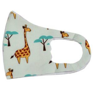 Apsauginė veido kaukė vaikams FashionMask Children 1vnt. (daugkartinio naudojimo) su žirafomis