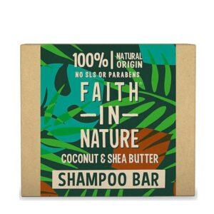 Kietasis šampūnas Faith in Nature 85g (su kokosais ir sviestmedžiu)